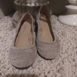 EUC Sole Society Tanya Taupe Suede Bright Flats